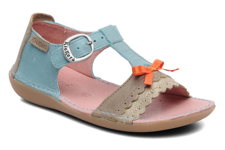 Sandales et nu-pieds Kickers Especial Bleu vue détail/paire