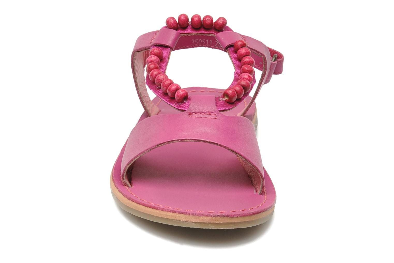 Sandalen Kickers Paprika rosa schuhe getragen