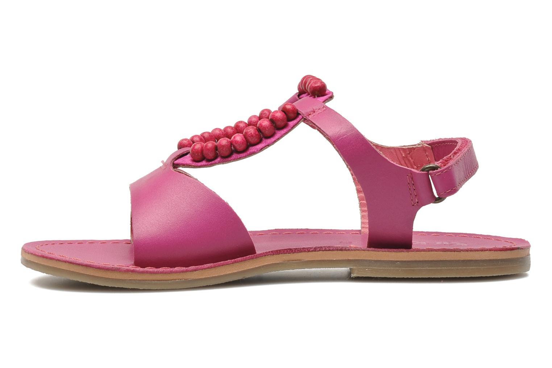 Sandalen Kickers Paprika rosa ansicht von vorne