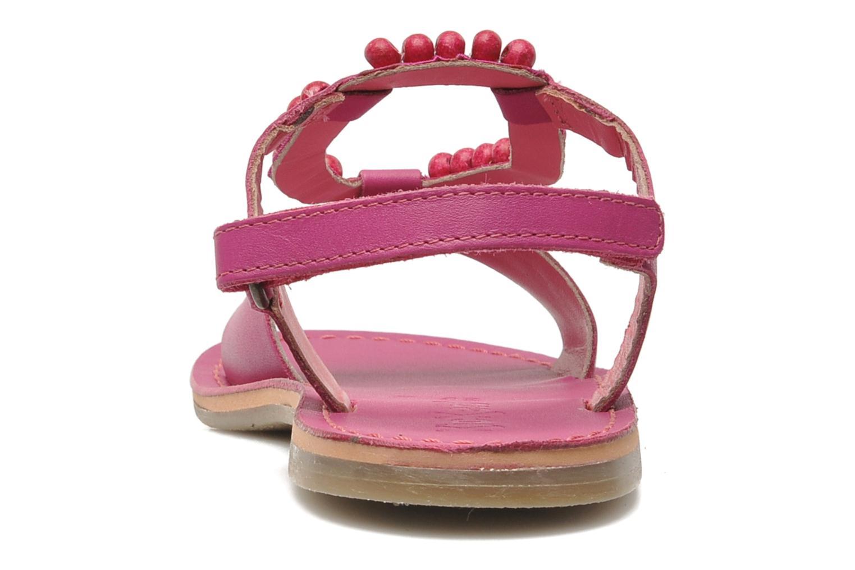 Sandalen Kickers Paprika rosa ansicht von rechts
