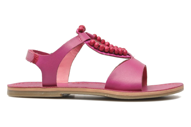 Sandalen Kickers Paprika rosa ansicht von hinten
