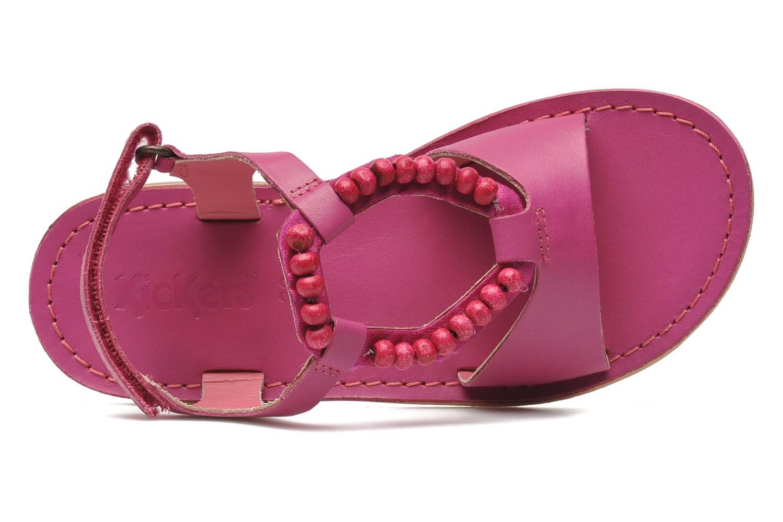 Sandalen Kickers Paprika rosa ansicht von links