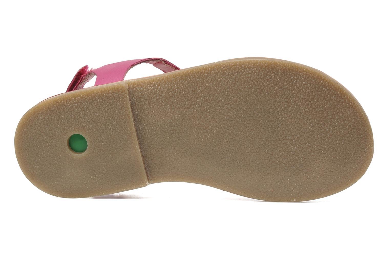 Sandalen Kickers Paprika rosa ansicht von oben