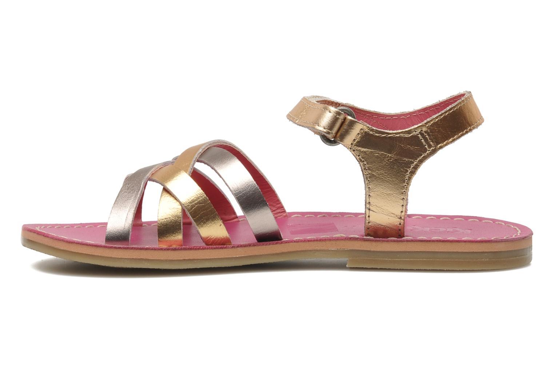 Sandalen Kickers Parallelo gold/bronze ansicht von vorne