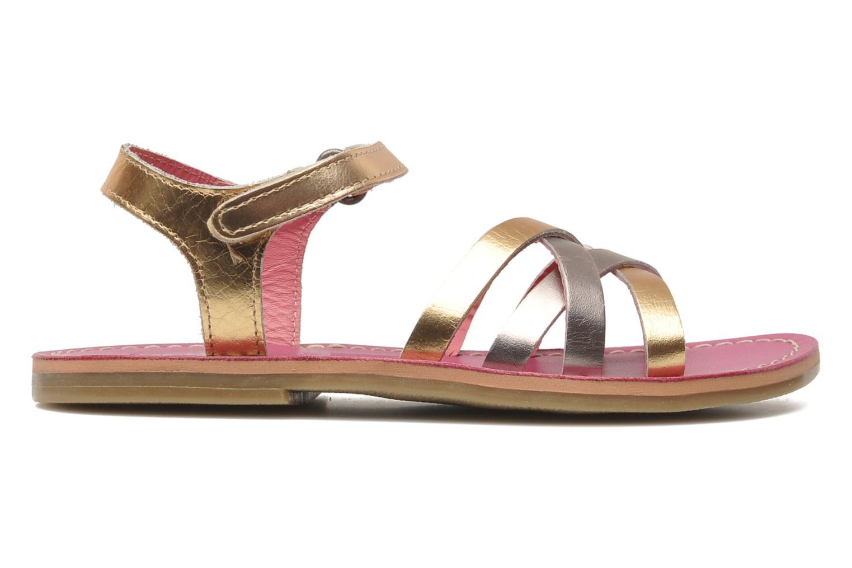 Sandalen Kickers Parallelo gold/bronze ansicht von hinten