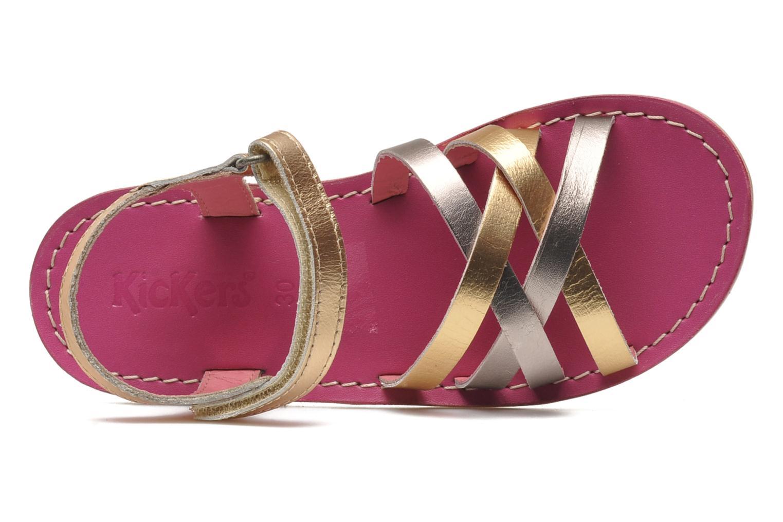 Sandalen Kickers Parallelo gold/bronze ansicht von links
