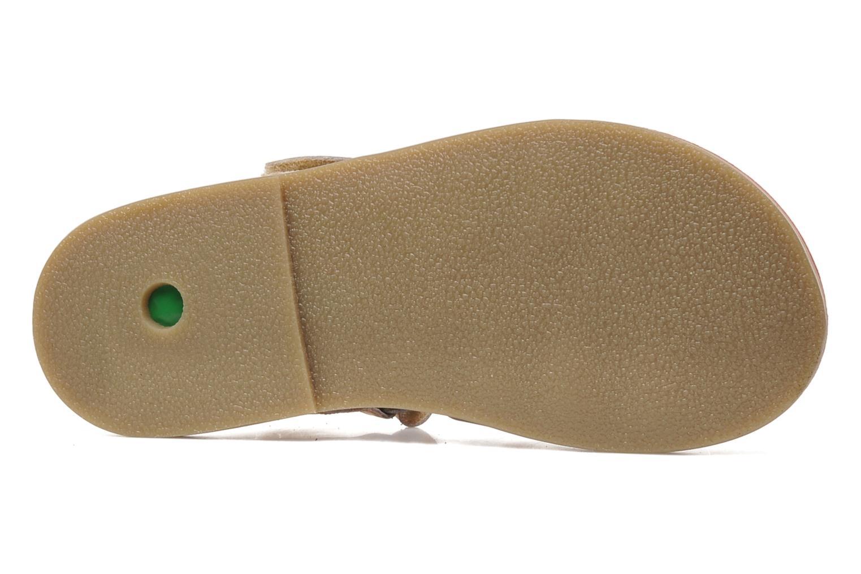 Sandalen Kickers Parallelo gold/bronze ansicht von oben