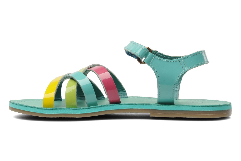 Sandales et nu-pieds Kickers Parallelo Bleu vue face