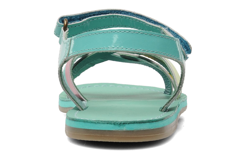 Sandalen Kickers Parallelo Blauw rechts