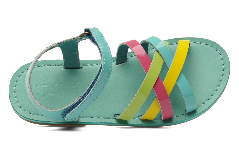 Sandales et nu-pieds Kickers Parallelo Bleu vue gauche