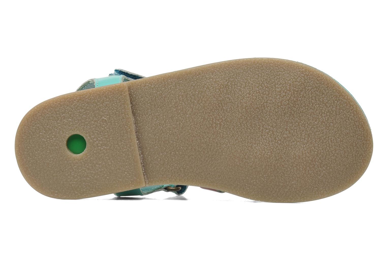 Sandales et nu-pieds Kickers Parallelo Bleu vue haut