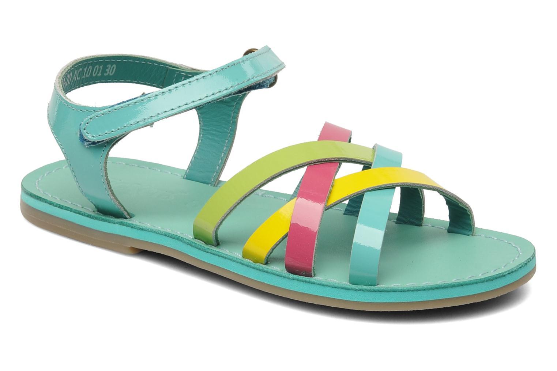 Sandales et nu-pieds Kickers Parallelo Bleu vue détail/paire