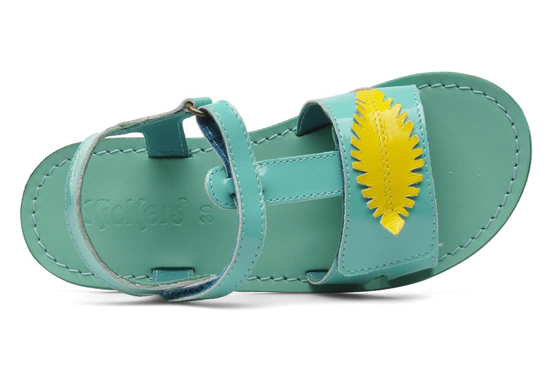 Sandalen Kickers Parapluie blau ansicht von links