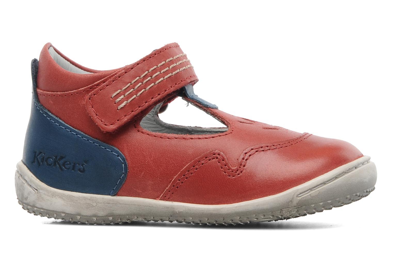 Sandales et nu-pieds Kickers Gusto Rouge vue derrière