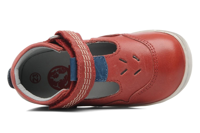 Sandales et nu-pieds Kickers Gusto Rouge vue gauche