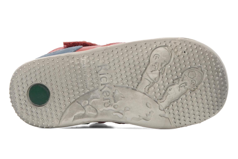 Sandales et nu-pieds Kickers Gusto Rouge vue haut