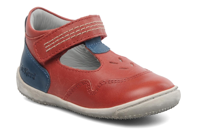 Sandales et nu-pieds Kickers Gusto Rouge vue détail/paire