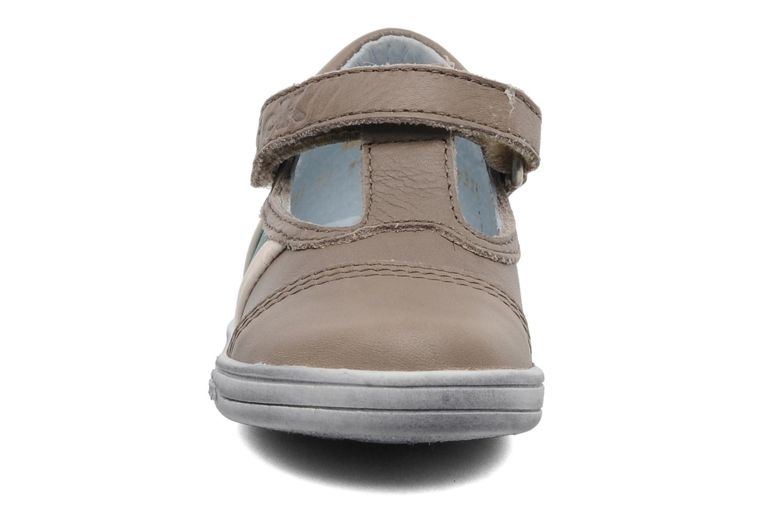 Chaussures à scratch Kickers Troy Gris vue portées chaussures