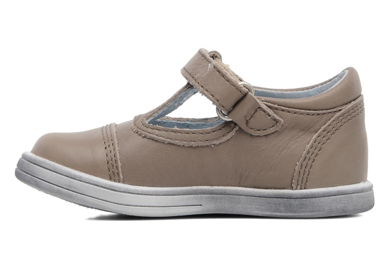 Chaussures à scratch Kickers Troy Gris vue face