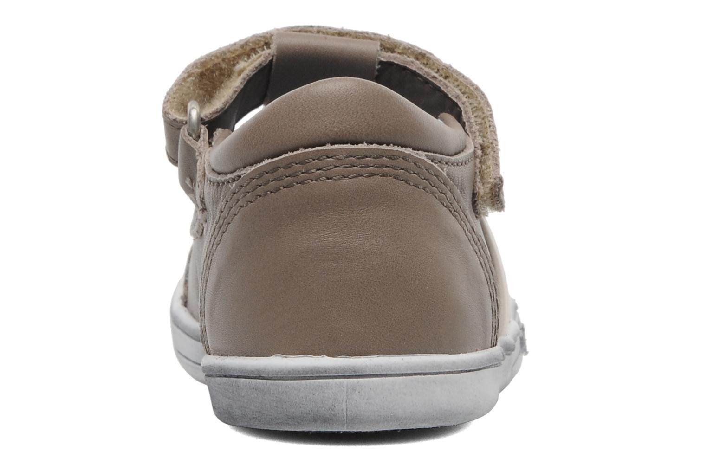 Chaussures à scratch Kickers Troy Gris vue droite