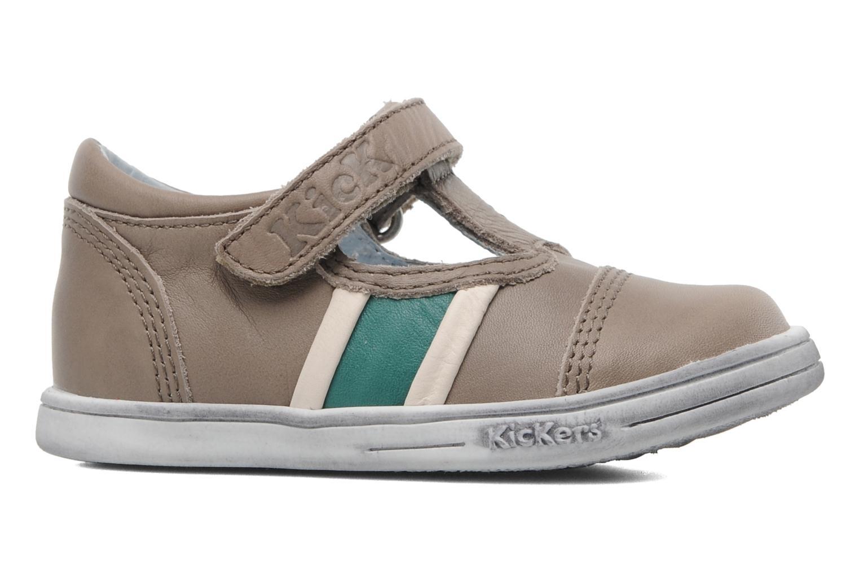 Schoenen met klitteband Kickers Troy Grijs achterkant