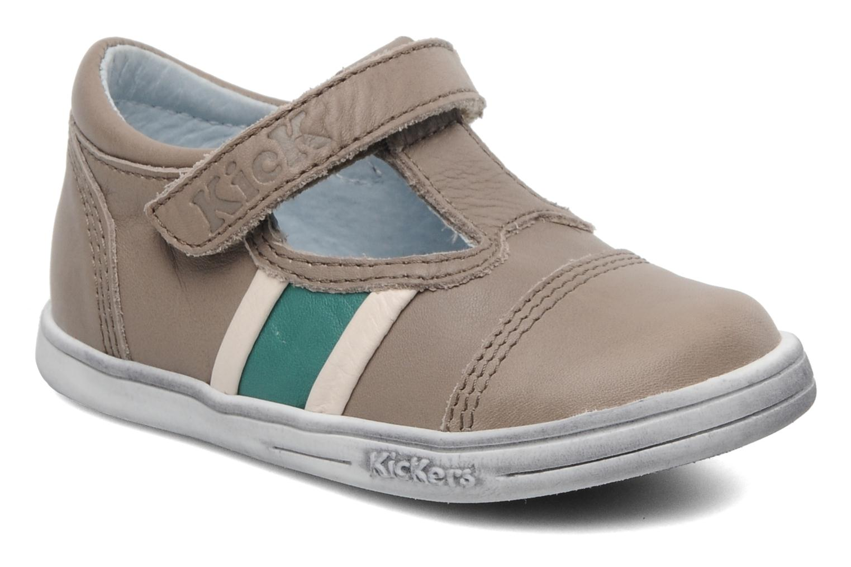 Schoenen met klitteband Kickers Troy Grijs detail