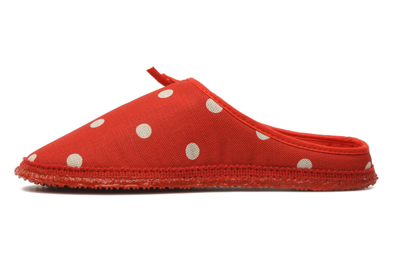 Pantoffels Giesswein Plein Rood voorkant