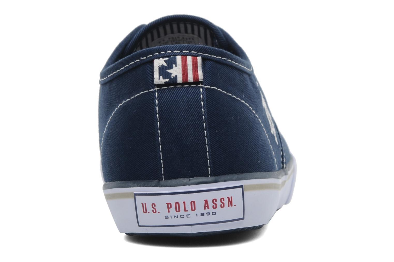 Sneakers U.S Polo Assn. Hugh Blauw rechts