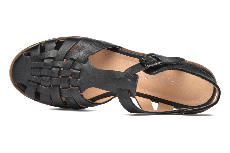 Sandales et nu-pieds Jonak Macara Noir vue gauche