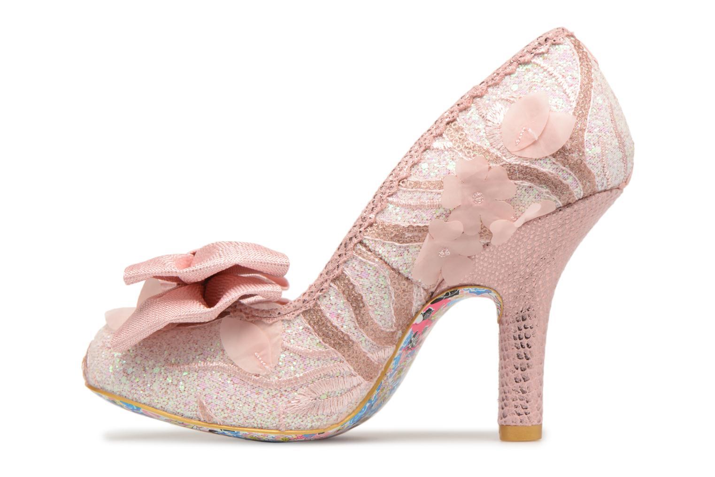 Zapatos de tacón Irregular choice Mal E Bow Rosa vista de frente