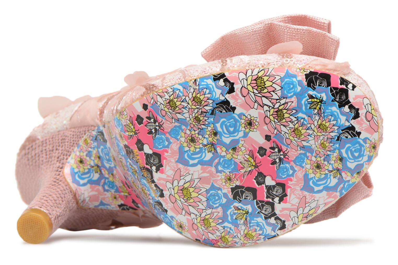 Zapatos de tacón Irregular choice Mal E Bow Rosa vista de arriba