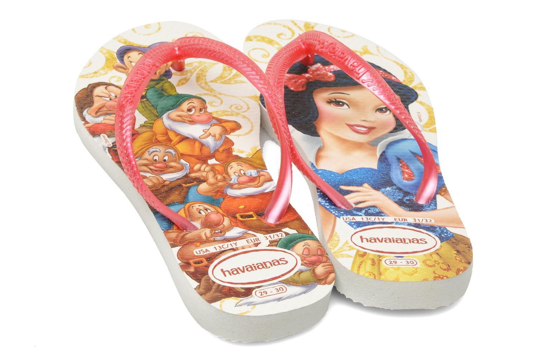 Flip flops Havaianas Slim Princess Pink 3/4 view