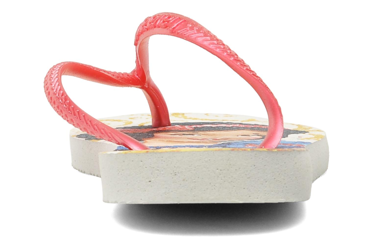 Flip flops Havaianas Slim Princess Pink view from the right