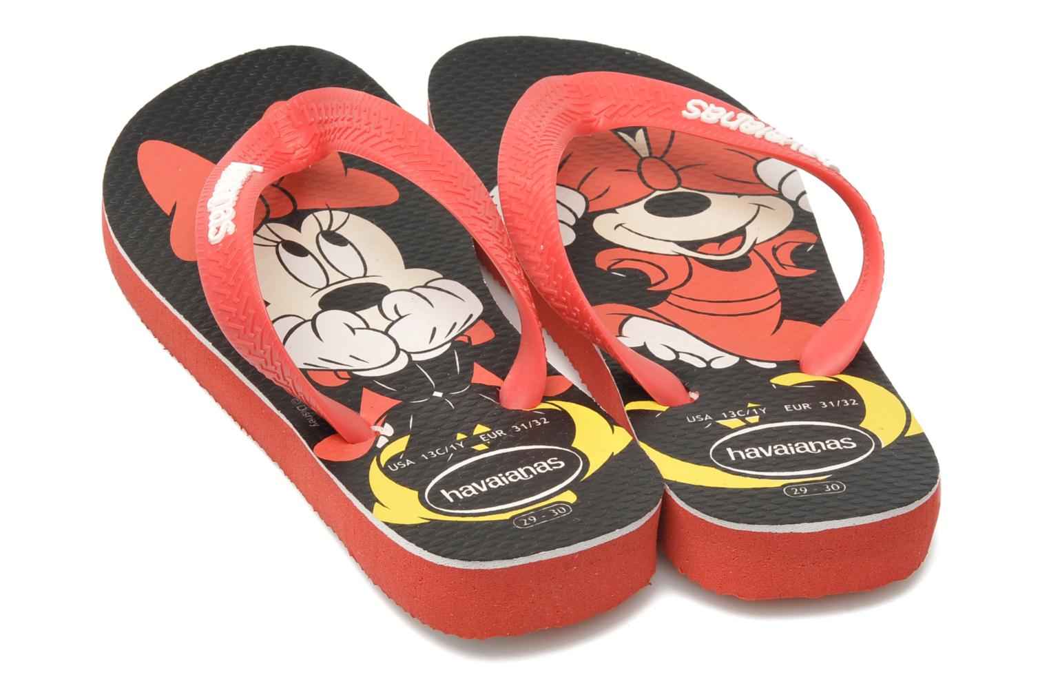 Tongs Havaianas Disney Stylish Rouge vue 3/4