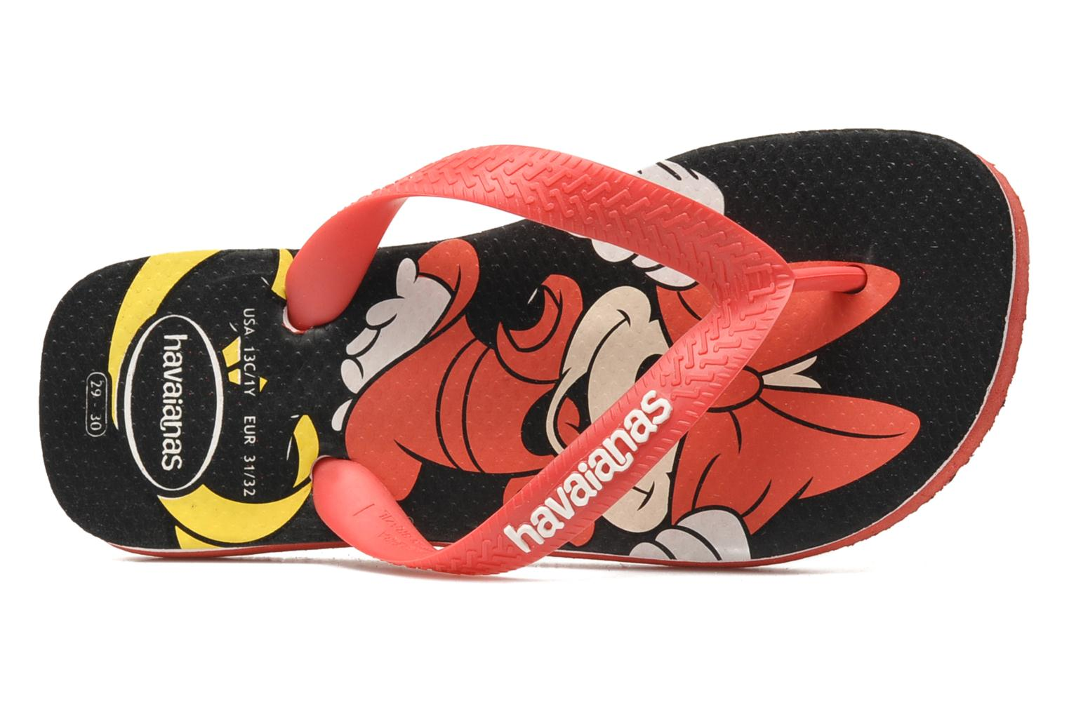 Flip flops Havaianas Disney Stylish Red view from the left