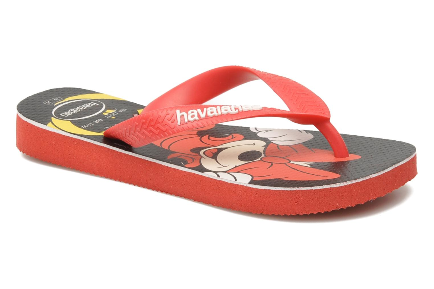 Flip flops Havaianas Disney Stylish Red detailed view/ Pair view