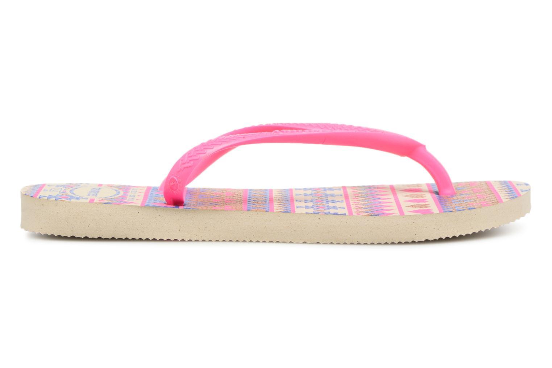 Zehensandalen Havaianas Kids Slim Fashion rosa ansicht von hinten