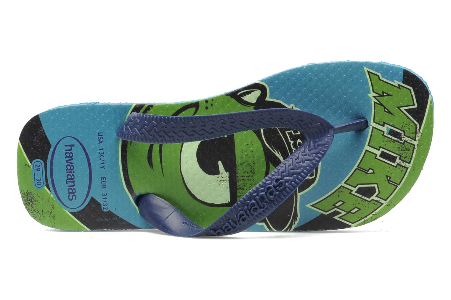 Zehensandalen Havaianas Kids Monster blau ansicht von links