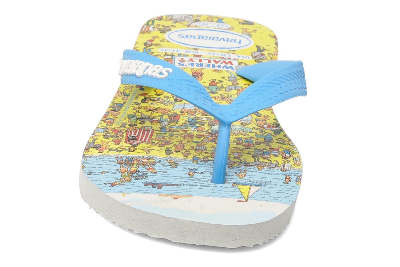 Zehensandalen Havaianas Ou Est Charlie blau schuhe getragen