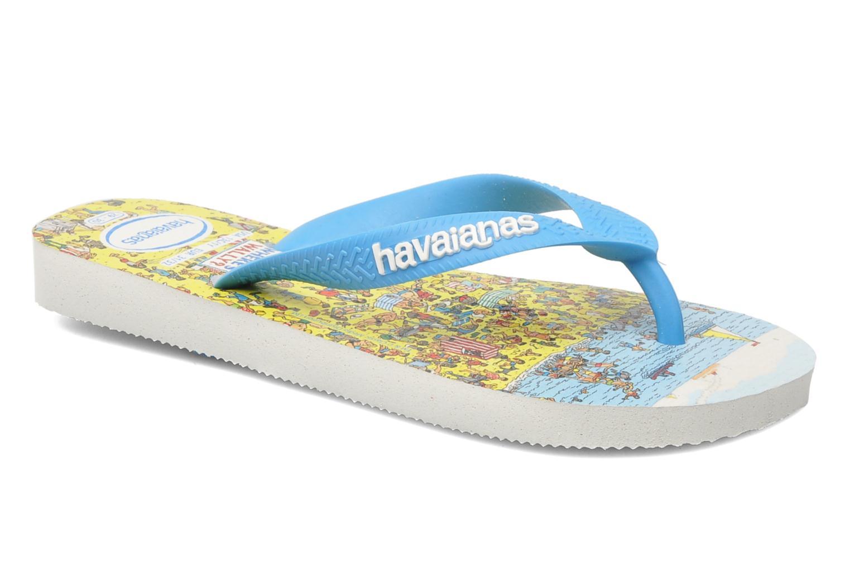 Zehensandalen Havaianas Ou Est Charlie blau detaillierte ansicht/modell