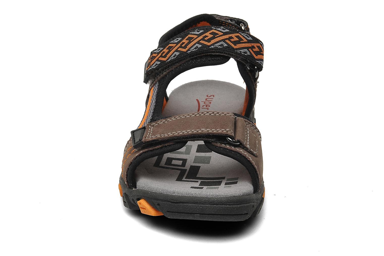 Sandalen Superfit Stonu braun schuhe getragen