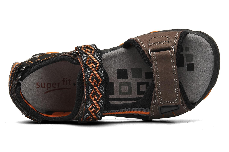 Sandalen Superfit Stonu braun ansicht von links