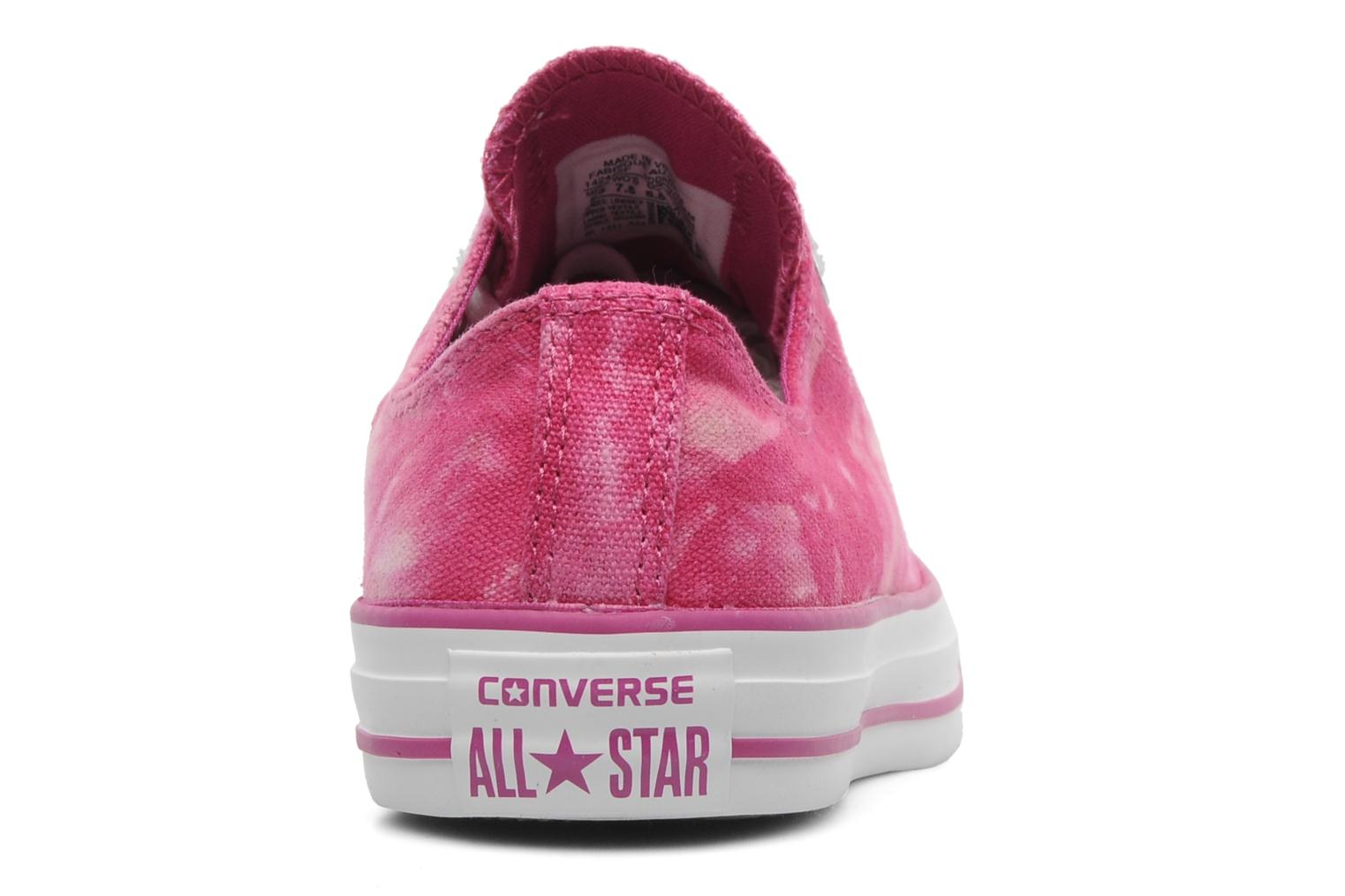 Baskets Converse Chuck Taylor All Star Tie & Dye Ox W Rose vue droite