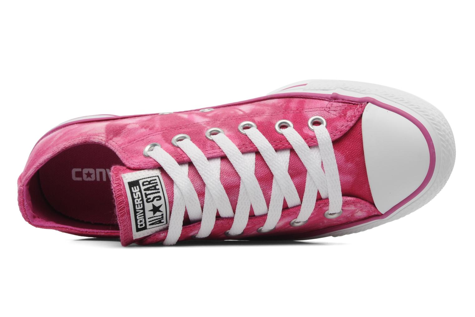 Baskets Converse Chuck Taylor All Star Tie & Dye Ox W Rose vue gauche