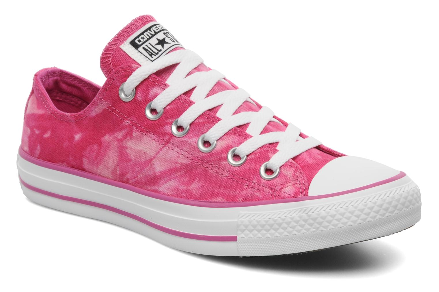 Baskets Converse Chuck Taylor All Star Tie & Dye Ox W Rose vue détail/paire