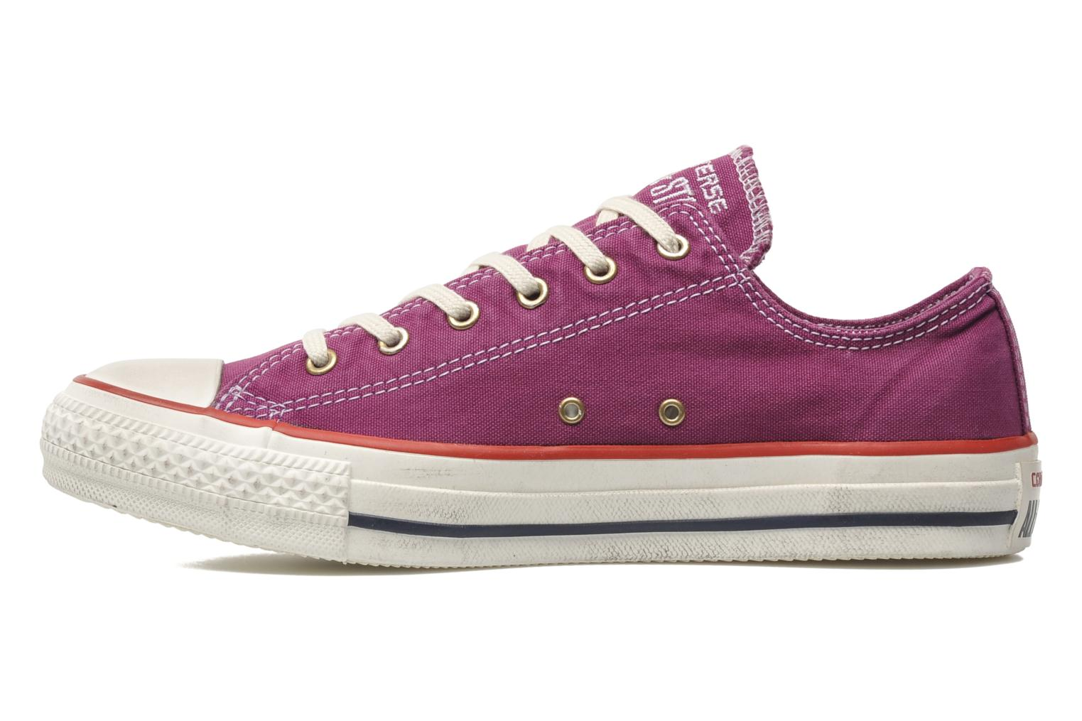 Deportivas Converse Chuck Taylor All Star Well Worn Ox W Rosa vista de frente