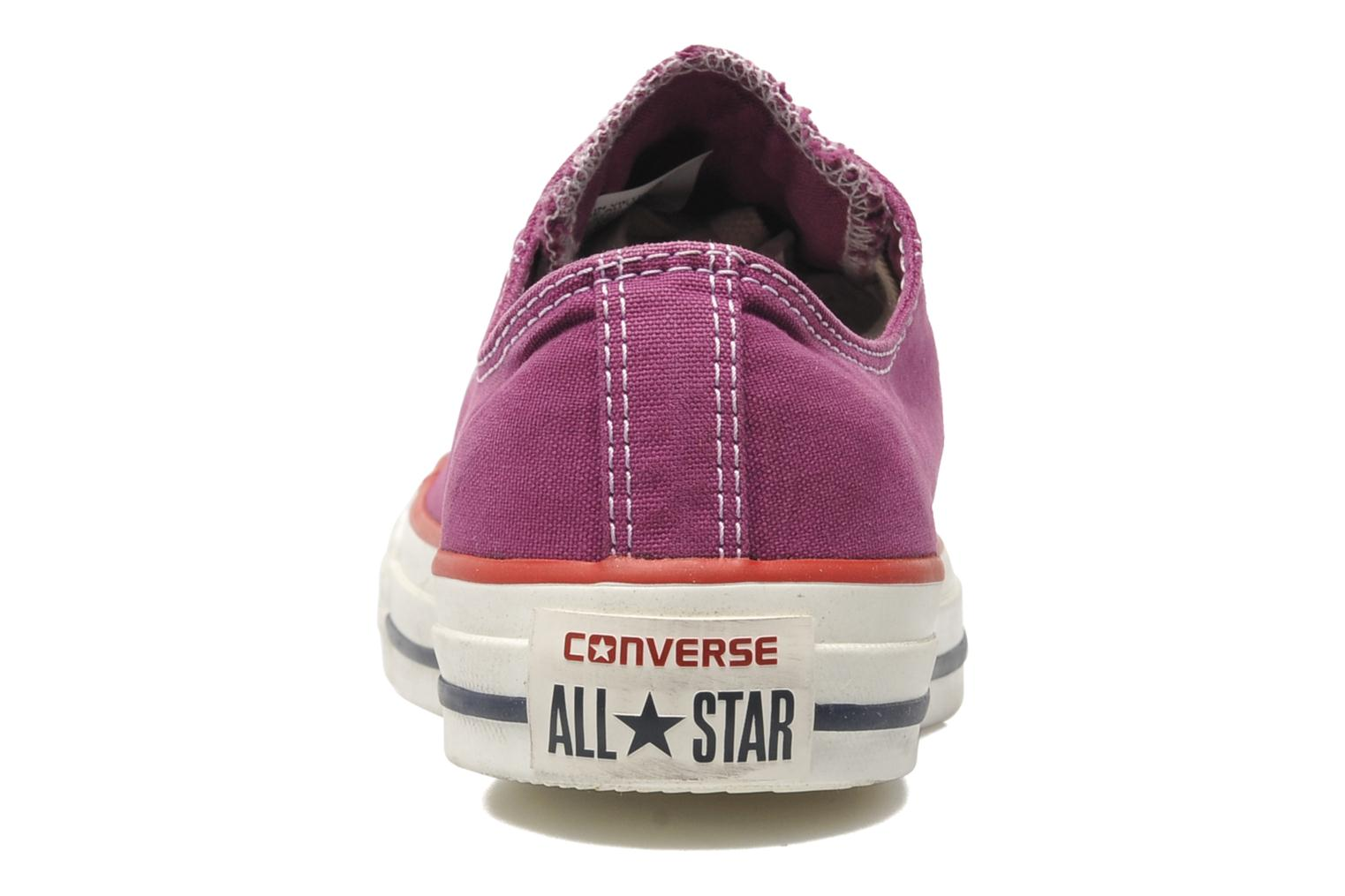 Deportivas Converse Chuck Taylor All Star Well Worn Ox W Rosa vista lateral derecha