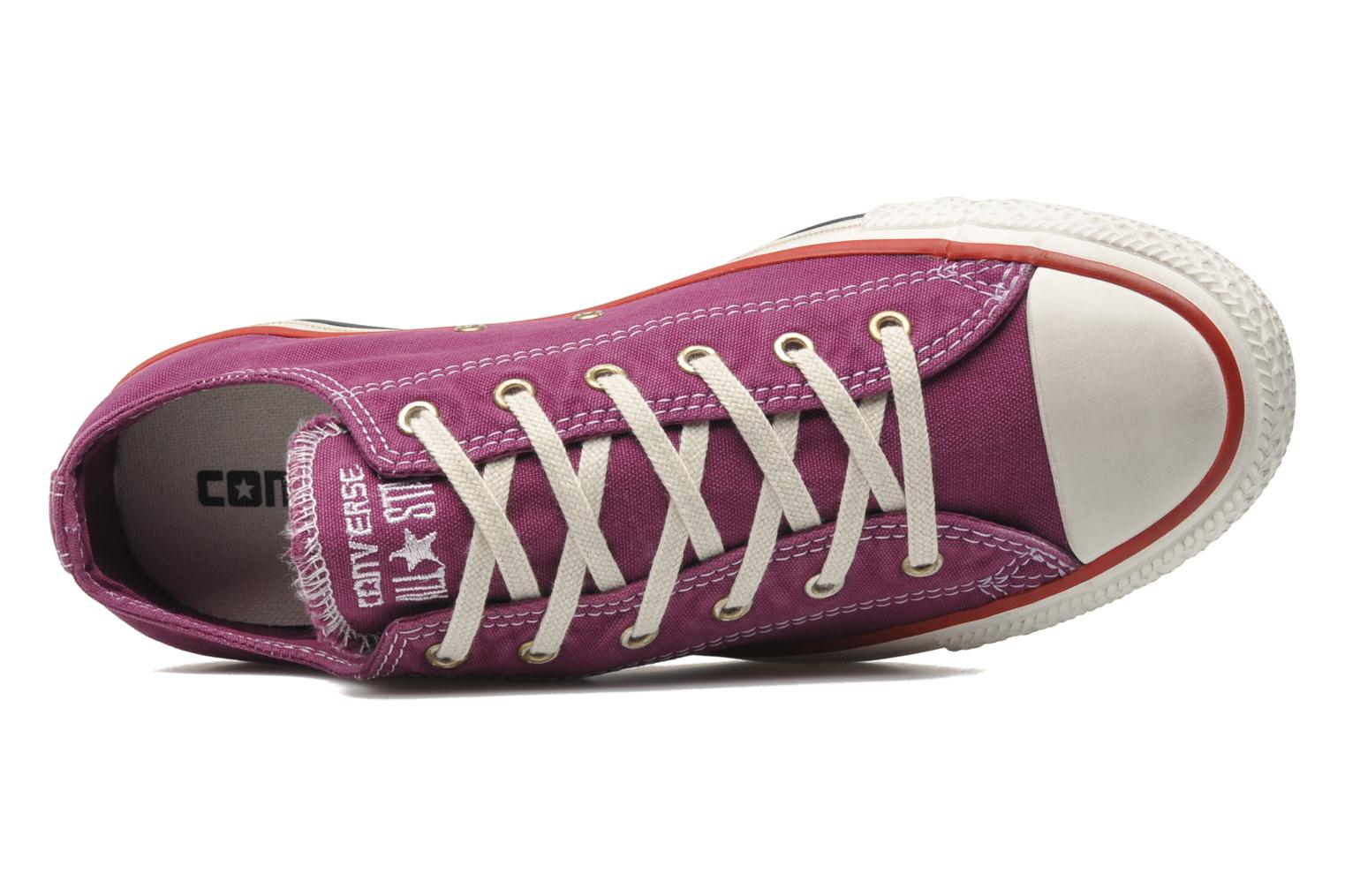 Deportivas Converse Chuck Taylor All Star Well Worn Ox W Rosa vista lateral izquierda
