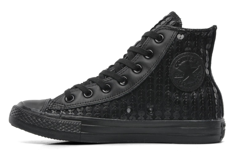 Sneaker Converse Chuck Taylor All Star Sequin Hi W schwarz ansicht von vorne
