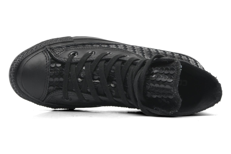 Sneaker Converse Chuck Taylor All Star Sequin Hi W schwarz ansicht von links